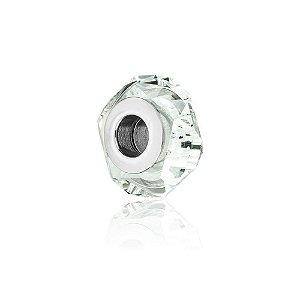 Berloque de Prata Separador Cristal Água Marinha