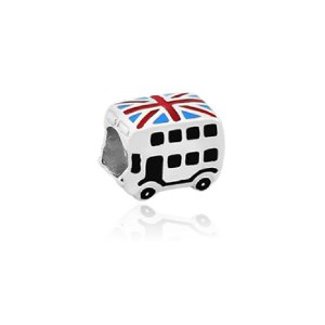 Berloque de Prata Ônibus Londres Inglaterra