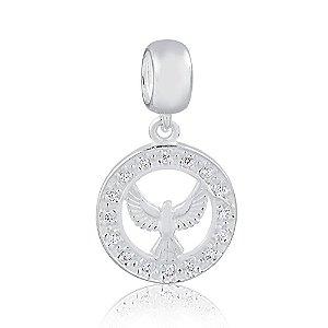 Berloque de Prata Divino Espírito Santo com Zircônias