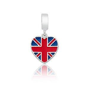 Berloque de Prata Bandeira da Inglaterra