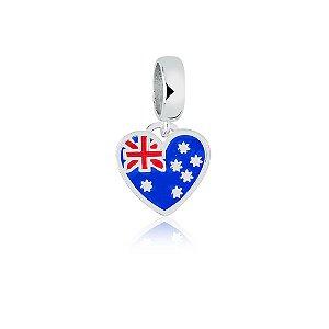 Berloque de Prata Bandeira da Austrália
