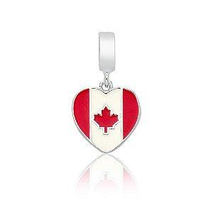 Berloque de Prata Bandeira do Canadá