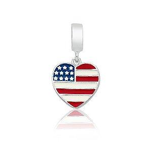 Berloque de Prata Bandeira dos EUA