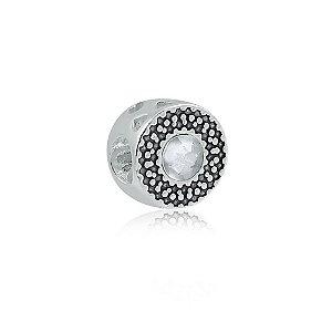 Berloque de Prata Separador Zircônia Cristal