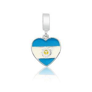 Berloque de Prata Bandeira da Argentina