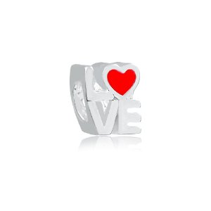 Berloque de Prata Separador Love Coração