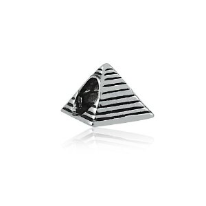 Berloque de Prata Pirâmide do Egito