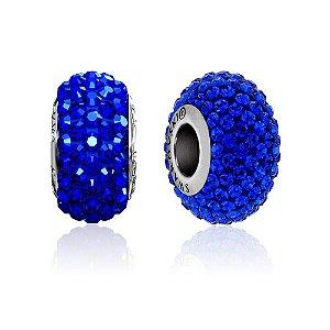 Berloque Swarovski Pavê Azul