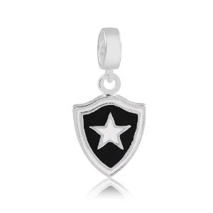 Berloque de Prata Pingente Botafogo