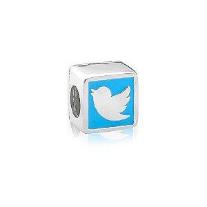 Berloque de Prata Twitter