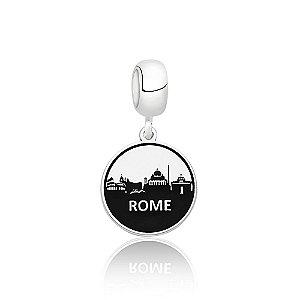 Berloque de Prata Cidade Roma Itália