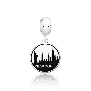 Berloque de Prata Cidade Nova York EUA