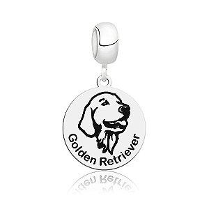 Berloque de Prata Cachorro Raça Golden Retriever