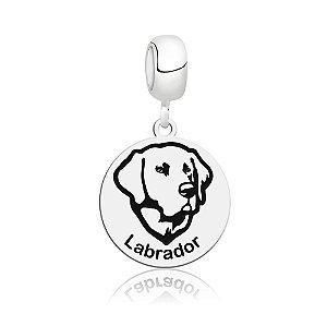 Berloque de Prata Cachorro Raça Labrador