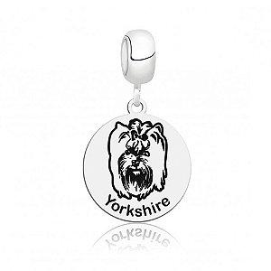Berloque de Prata Cachorro Raça Yorkshire