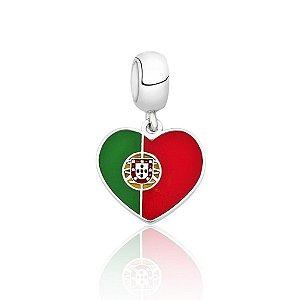 Berloque de Prata Bandeira de Portugal
