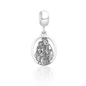 Berloque de Prata Nossa Senhora do Carmo