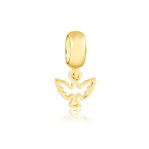 Berloque Divino Espírito Santo Mini Folheado a Ouro
