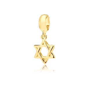 Berloque Estrela de Davi Folheado a Ouro