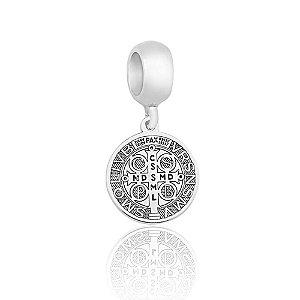 Berloque de Prata Medalha São Bento Mini