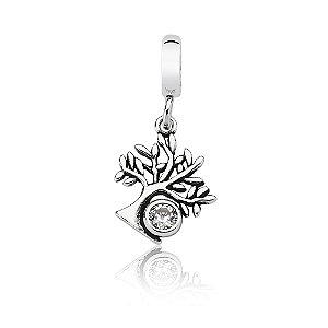 Berloque de Prata Pingente Árvore da Vida com Zircônia