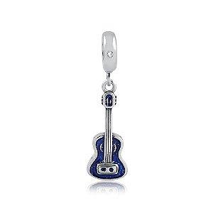 Berloque de Prata Violão Azul
