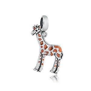 Berloque de Prata Pingente Girafa