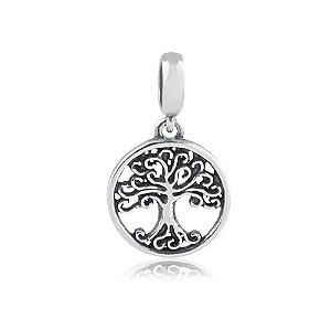 Berloque de Prata Pingente Árvore da Vida Vazada