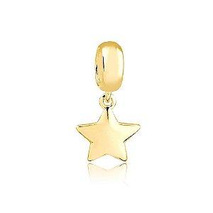 Berloque Pingente Estrela Folheado a Ouro