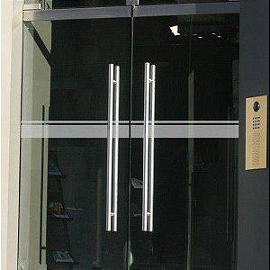 Adesivo Jateado Faixa de Segurança Para Vidros kit com 2 faixas de 100x10 cm