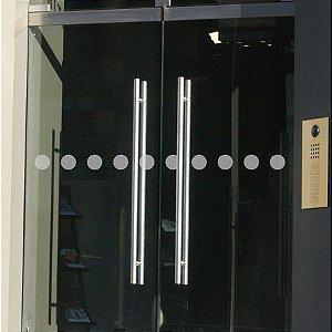 Adesivo Jateado Faixa de Segurança Para Vidros kit com 2 faixas de 100x7 cm