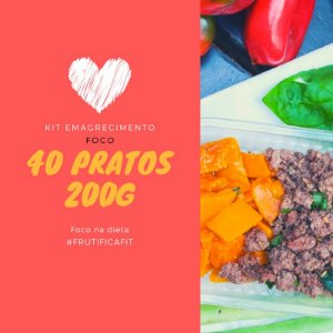 Kit Foco na dieta - 40 pratos (200g)