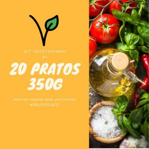 Kit Vegetariano #1 - 20 pratos (350G)