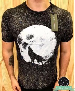 Camiseta Marmorizada Griffe Lobo