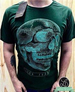 Camiseta Masculina Verde Original Caveira