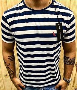 Camiseta Masculina Griffe Marmorizada Listrada
