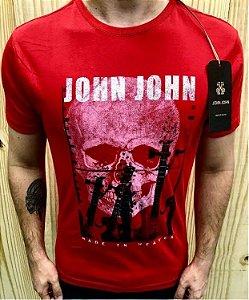 Camiseta Masculina Vermelha Caveira Original