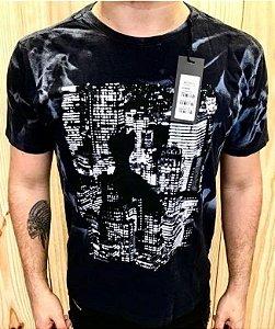 Camiseta Masculina Pica Pau Cidade Preta Original