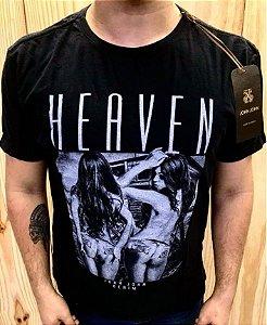 Camiseta Masculina Heaven Preta Original