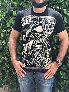 Camiseta Armani Exchange Preta Griffe Genuina