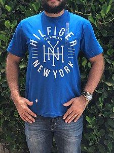 Camiseta Masculina Griffe Tommy Hilfiger Azul