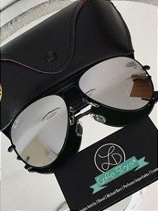 Oculos de Sol Ray Ban Espelhado Cromo