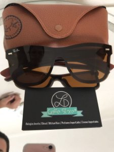 Oculos de Sol Rayban Justin Blaze Marrom