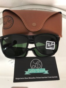 Oculos de Sol Ray Ban Justin Madeira Verde