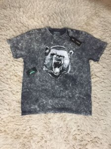 Camiseta Masculina Reserva Cinza Urso Marmorizada
