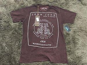 Camiseta Masculina John John Marrom