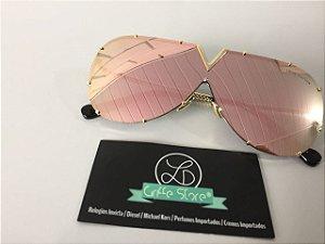 Óculos de Sol Louis Vuitton LV Drive Rosa Espelhado primeira linha premium