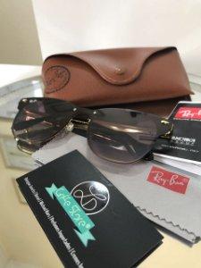 Óculos de Sol Ray Ban Clubmaster Blaze Marrom Degradê RB 3576