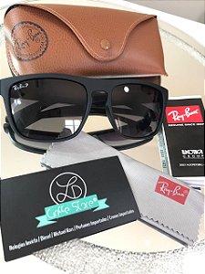 Óculos de Sol Ray Ban Fosco Justin Preto Polarizado RB 2470