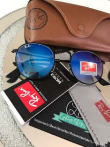 Óculos de Sol Ray Ban Round Azul Degradê RB 3447